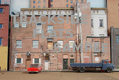 #206 N scale background building flat BACKSIDE #5   *FREE SHIPPING*