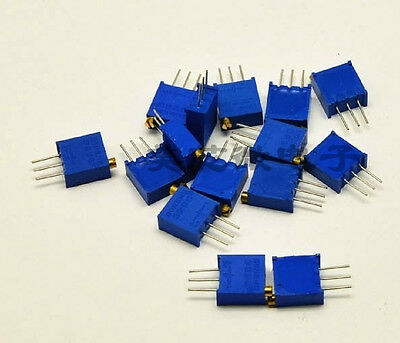 15 values 3296 trimmer trim pot resistor potentiometer kits 15pcs (one each )