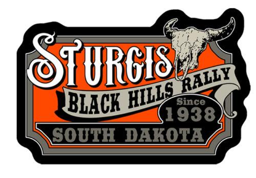 STURGIS RALLY RARE VINTAGE CATTLE SKULL MC STURGIS PATCH