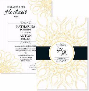 Einladungskarten Zur Hochzeit Hochzeitseinladungen Edel Einladung