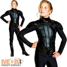 item 2 Katniss Girls Fancy Dress Hunger Games Mockingjay Book Film Halloween Costume -Katniss Girls Fancy Dress Hunger Games Mockingjay Book Film Halloween ...  sc 1 st  eBay & Deluxe Girls The Hunger Games Katniss Everdeen Rebel Fancy Dress ...