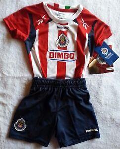 info for d8acd e9e41 Details about Chivas Guadalajara Mexico Reebok Toddler Original Soccer  Jersey Short 18 Months