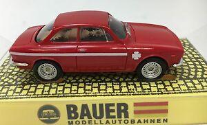 BAUER AMS ALFA ROMEO BERTONE 1300 JUNIOR GTA RED #4441 AURORA T-JET CLONE CHASSI
