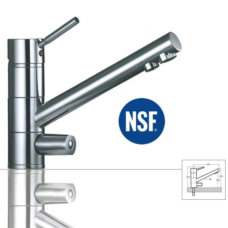 3 voies robinet saturne, Chrome pour Amway eSpring filtre à eau convient robinet
