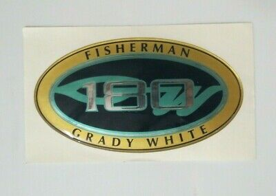 "#10-0405 2-3//4/"" x 5/"" GRADY WHITE OEM  209 FISHERMAN HULL NAME DECAL"