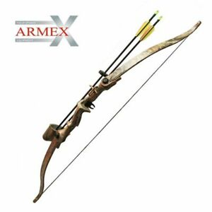"""RIGHT Hand Armex Saxon Archery Recurve Complete Bow kit Youth//Adult 68/"""" 28 Lbs"""