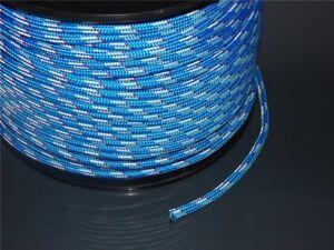 5m PES Polyesterseil Polyester Tauwerk blau Ø12mm 1920kg je Meter 1,98€ Neu