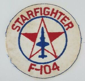 F-104-Starfighter-Air-Force-Aircraft-Patch-Original-Vintage-Plane-badge-5-inch