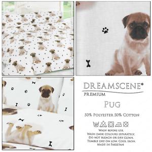 Mignon-Carlin-Dog-Paw-Print-Doggy-Bone-reversible-couette-couverture-Set-Ensemble-De-Literie
