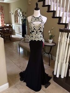 398-NWT-BLACK-MORI-LEE-PAPARAZZI-PROM-PAGEANT-FORMAL-DRESS-GOWN-97067-SIZE-2-4