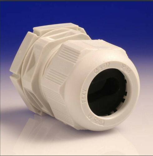 X2 Wiska GLP25 White Nylon Dome Top Cable Gland /& Locknut IP68 25mm 99706