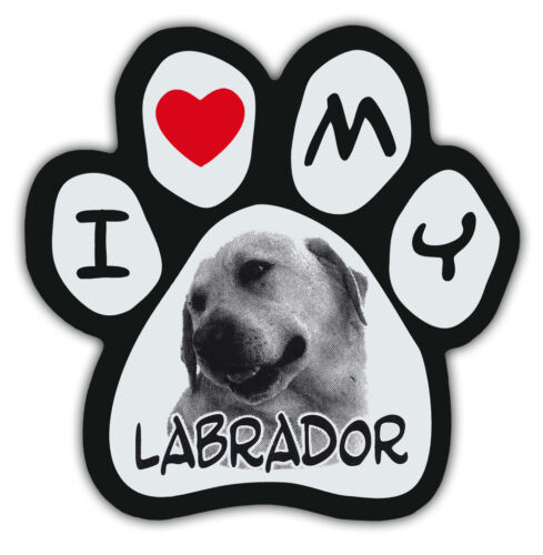 RETRIEVER Cars I LOVE MY LABRADOR Picture PawsDog Paw Shaped Magnets