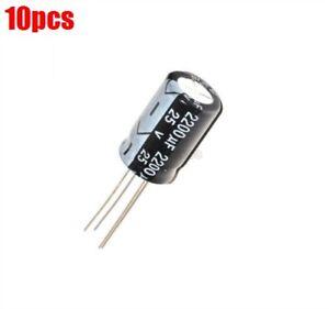 10Pcs-Elektrolytkondensator-25V-2200Uf-Volumen-13X21MM-2200Uf-25V