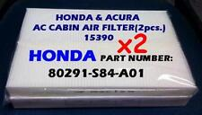 x2 double pack For HONDA Accord ACURA 3.2CL 3.2TL CABIN AIR FILTER + fast ship