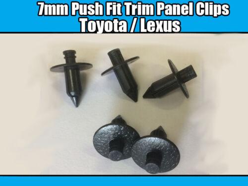 20x Clips For Toyota 7mm Push Fit Trim Panel Black Plastic 90467-07043-C0