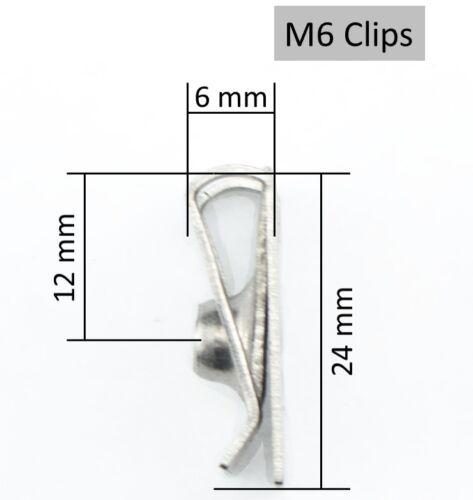 M6 Verkleidungsclipse Edelstahl rostfrei Blechmutter Clipse Verkleidung A2 Clip