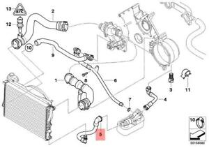 image is loading genuine-engine-thermostat-water-hose-bmw-e38-e39-