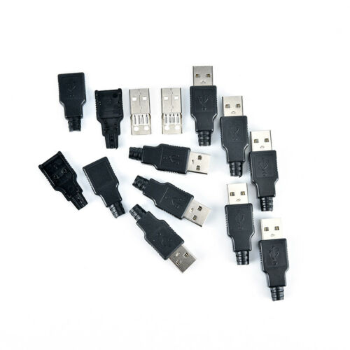 2//5//10pcs type a usb 4 pin male socket connector plug termination plastic sF FZ