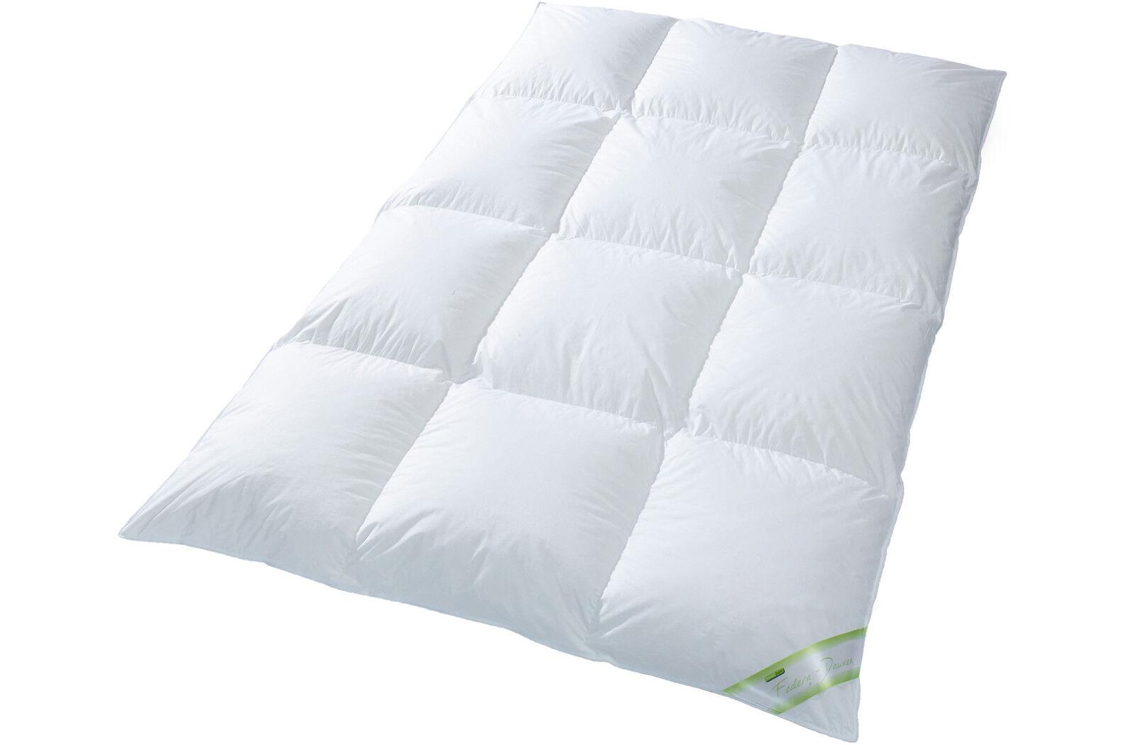 Daunendecke 10 cm Innensteg 100% Daune Winter Bettdecke Steppbett Bett Franzi-3