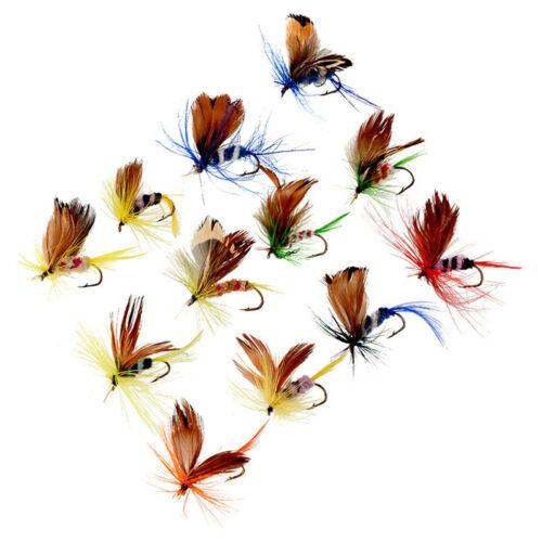 12pcs See Fluss Fliegen Barsch Forelle Elritze Köder Angel Fly Sortiment Fisch