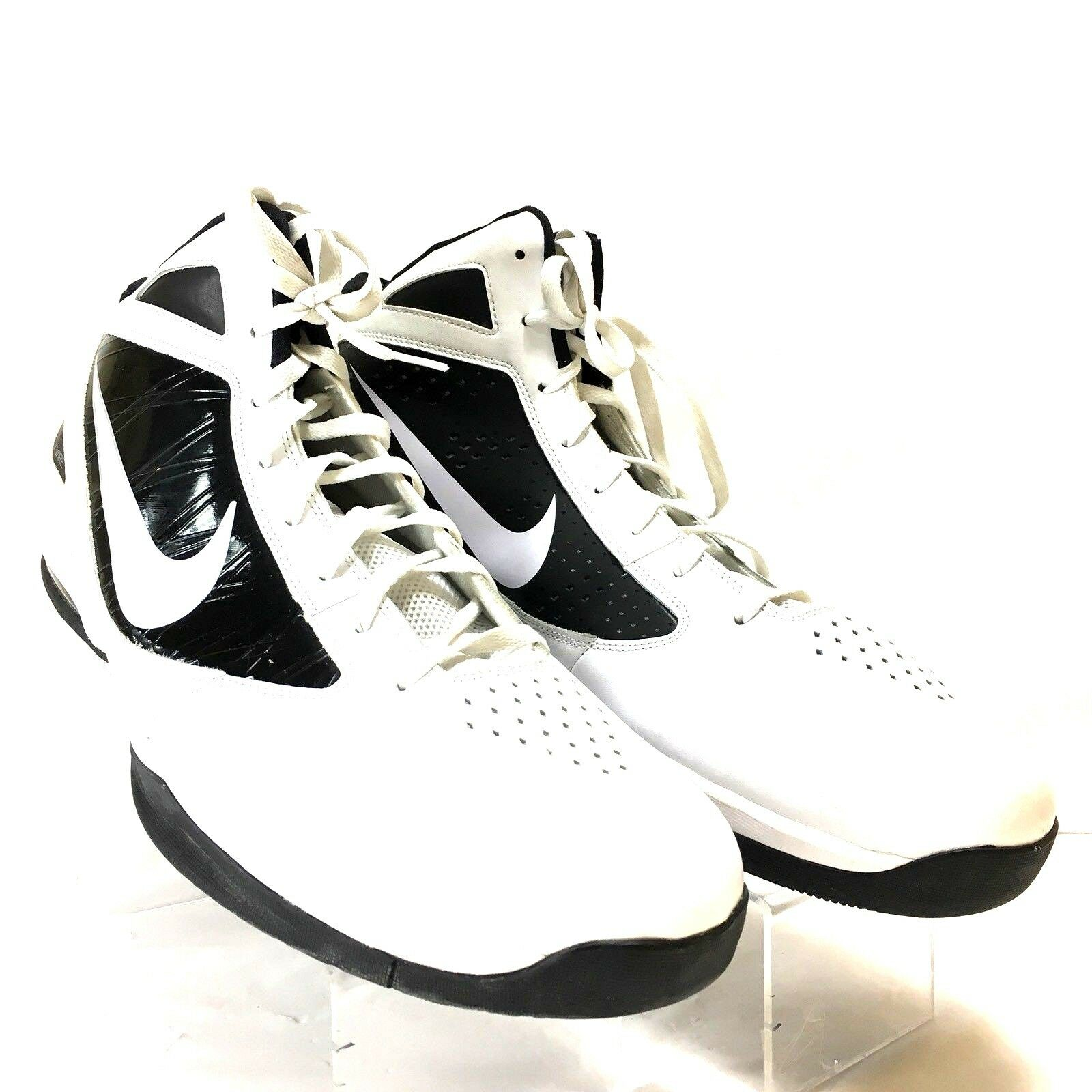 NIKE AIR MAX White/Black Size 20M FLYWIRE 454140-100 Athletic Shoes S9