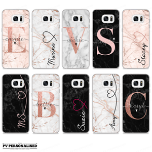 6ea87756df Image is loading INITIALS-NAME-PHONE-CASE-PERSONALISED-MARBLE-HARD-COVER-