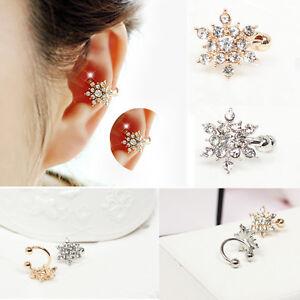 Fashion Long Crystal Tassel Earrings Pearl Beaded Ear Stud Women Silver Jewelry