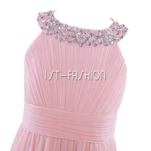 Mädchen Festkleid Kinder Blumenmädchen Kleid Hochzeits Party Kleider Abendkleid