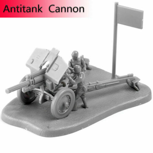 1:72 PAK40 M30 Assembly Model Cannon Weapon Scene Puzzles Building Bricks Toy