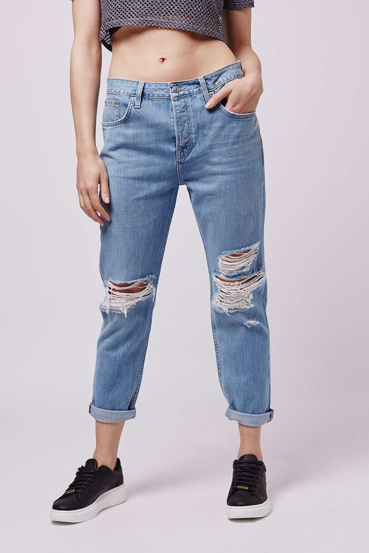 TOPSHOP MOTO Bleache Rip HAYDEN boyfriend jeans  28 34 RRP
