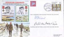AC60 Falkland Islands FDC signed General De La Billiere DSO MC & FM Vincent DSO