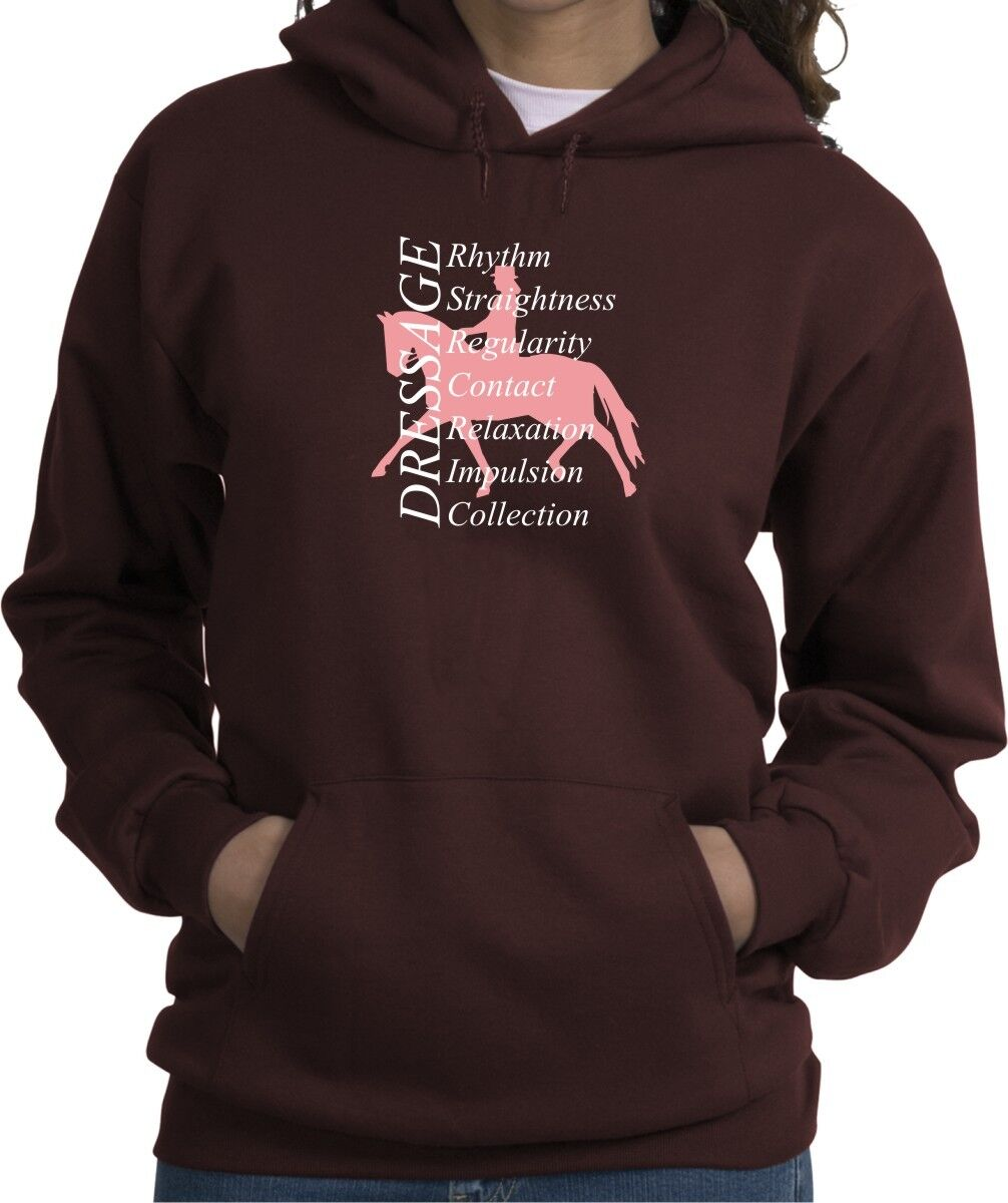 Dressage Fundamentals Horse and Rider Hooded Sweatshirt Multiple colors & Sizes