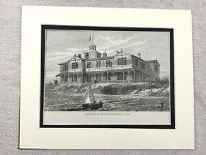 1882-Print-Ostend-Belgium-Belgian-Royal-Villa-Mariakerke-Antique-Original