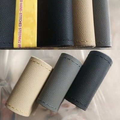 Trendy Car Leather Steering Wheel Cover Cowhide + Needles and Thread DIY