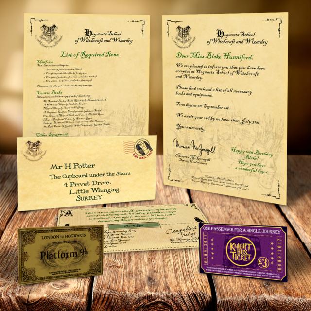 hogwarts harry potter personalised acceptance letter christmas gift xmas