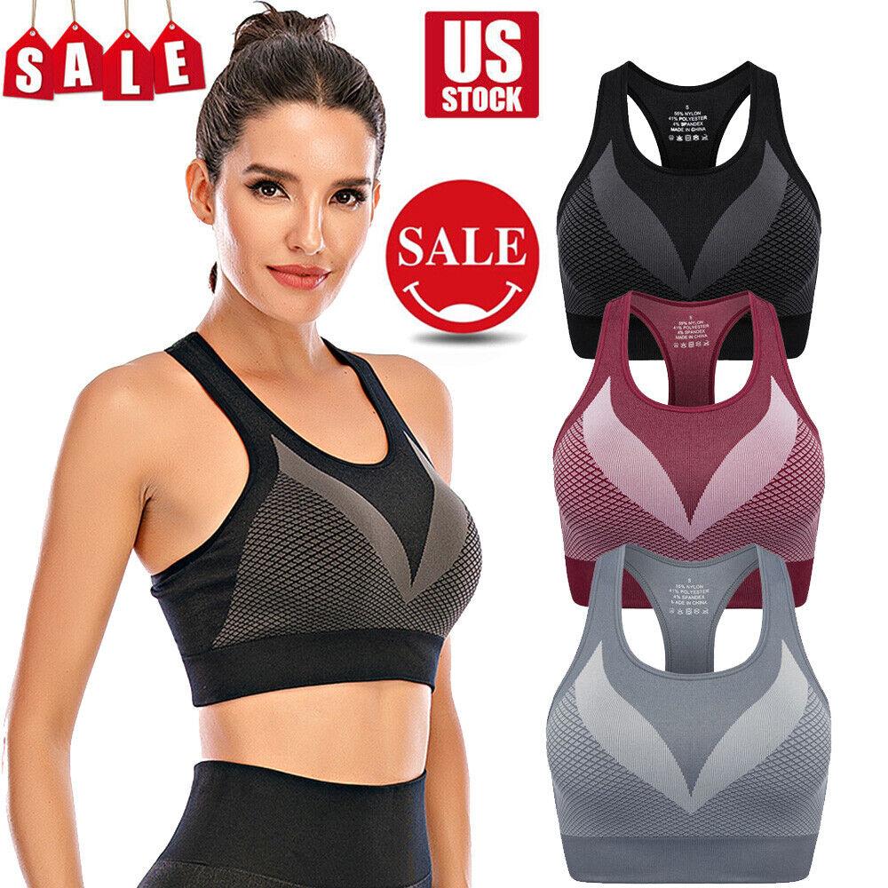 Womens Seamless Comfort Bras Shapewear Sports Stretch Crop Tops Vest Yoga Bra US