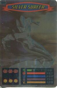 Spiderman-Heroes-And-Villains-Card-117-Silver-Surfer-Foil