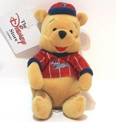 Disney Store Winnie The Pooh Baseball Pooh Da Collezione Beanie 8 Pollici Con Etichette-mostra Il Titolo Originale