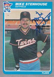 1985-Fleer-Update-U-110-Mike-Stenhouse-Autograph-Signed-Twins