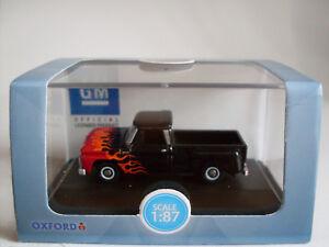 Chevrolet-Stepside-Fiamme-scala-H0-Oxford-Auto-Veicolo-Modello-1-87
