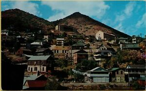 Air-Aerial-View-Largest-Ghost-City-Town-Jerome-Arizona-AZ-Postcard-A18