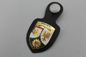 LK755: Polizei Wittstock altes Email Stück