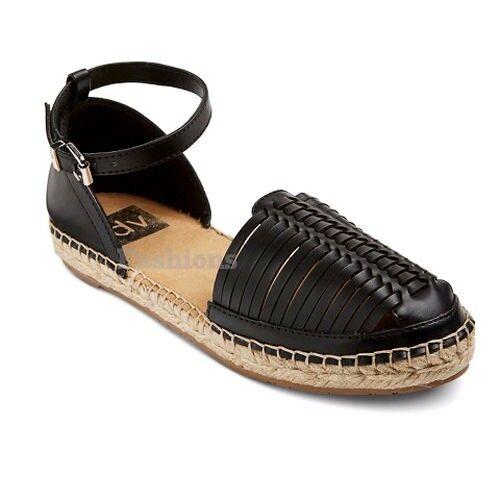 DV for Target by Dolce Vita Skye Black NWOB Espadrille Strap Sandals Shoes NWOB Black A157 995211
