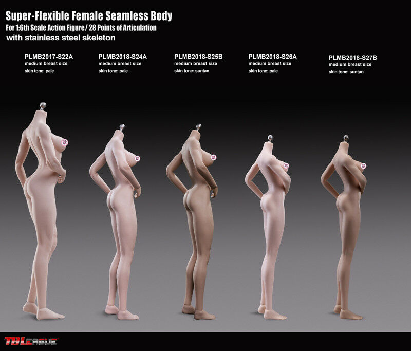 1 6 Phicen S27B PLMB2018-S27B Female Nude Body stand 270mm Suntan Medium Breast