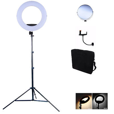 Bellezza Dimmerabile 7 45CM Video Luce STAND SELFIE ad Trucco 96 W Anello 17 LED Bi Color wx6TaqwX