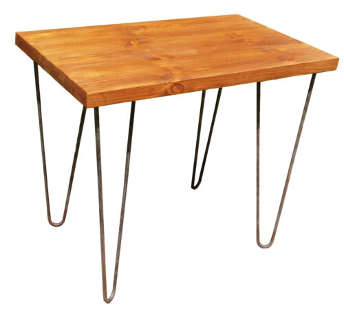 Vintage Industrial Side Console Table Rustic Bench with Hairpin Legs