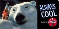 Coca-cola Polar Bear Photo License Plate