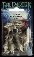 RAL PARTHA 01-035 WOLF PACK (7) NISB ( d & d, reaper, dungeons & dragons, ad&d )