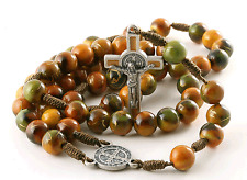 Durable St Benedict Catholic Rosary on Cord from Brazil for Men and Women