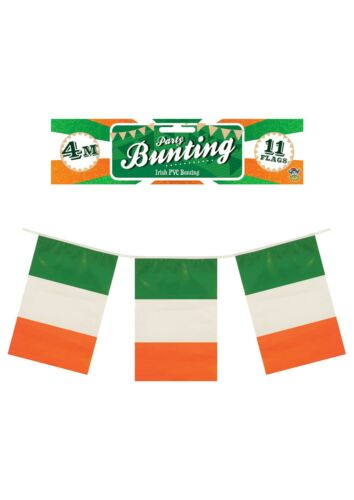 Irish Ireland St Patrick/'s Day PVC Rectangular Bunting 11 Pennants 4m